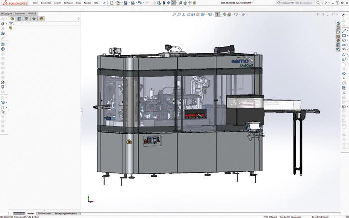 Für die mechanische Konstruktion nutzt esmo Solidworks – und hat über das PDM-System Pro.File eine leistungsfähige Schnittstelle zur Elektrokonstruktion mit Eplan geschaffen.