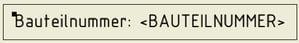 Symboltext mit iProperties füllen: Symbol Bauteilnummer