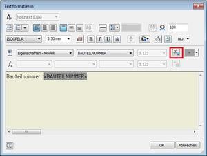 Symboltext mit iProperties füllen: Textparameter einfügen aus Modell