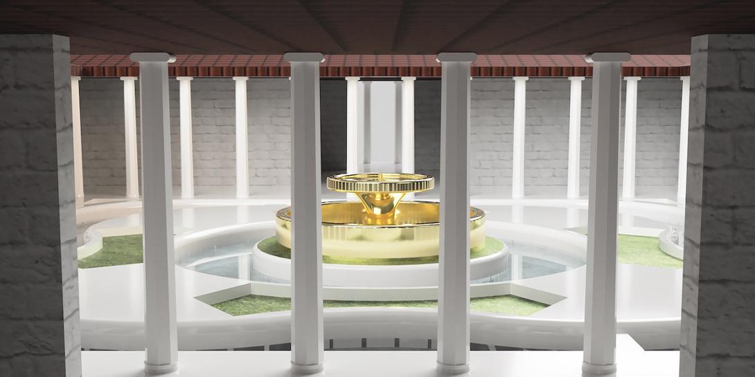 Additiv gefertigtes Bauwerk des antiken Olympia