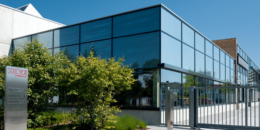 Gebäude Firmensitz der HAWE Hydraulik SE